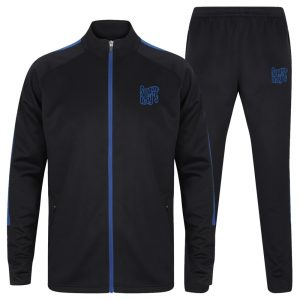 Sugar Ray's Junior Slim Fit Knitted Tracksuit – Navy/Royal Blue
