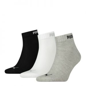 Puma Quarter 3PR Pack Crew Socks – Assorted