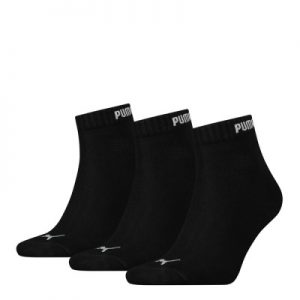 Puma Quarter 3PR Pack Crew Socks – Black