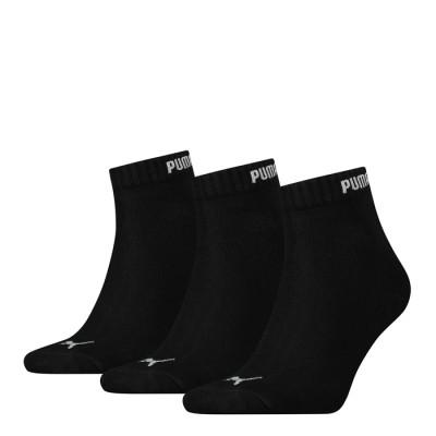 Puma Quarter 3PR Pack Crew Socks – Black
