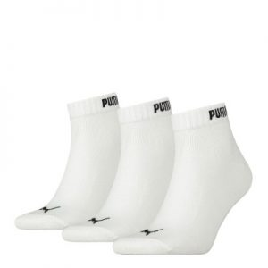 Puma Quarter 3PR Pack Crew Socks – White