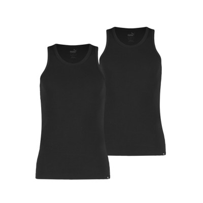 Puma Pack of 2 Bodywear Tank Tops Vests – Black