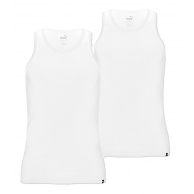 Puma Pack of 2 Bodywear Tank Tops Vests – White