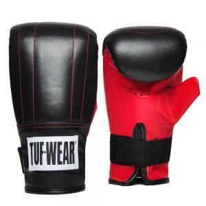 Tuf-Wear Hide Leather Bag Gloves – Black/Red