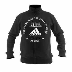 Adidas Boxing Zip Jacket Rounded Logo – Black/White
