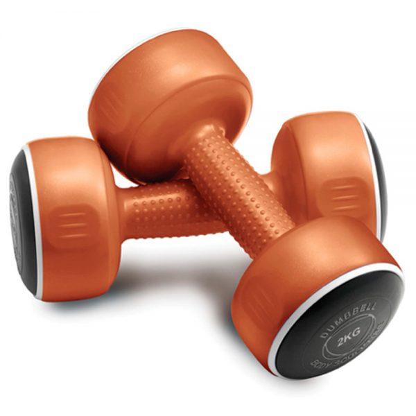 Body Sculpture Smart Dumbbell Set – Pair of 2kg / Bronze