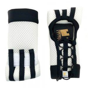 Fortress Boxing ProElite Super Slim PE|SS Fast Wraps – White/Black