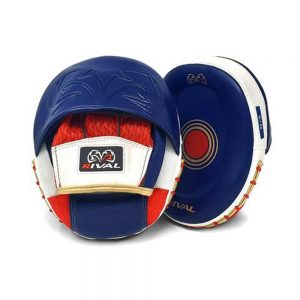 Rival RPM80 Impulse Punch Mitts – Blue/Red/White/Gold