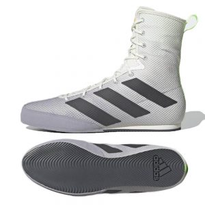 Adidas Box Hog 3 Boxing Boots – White/Grey