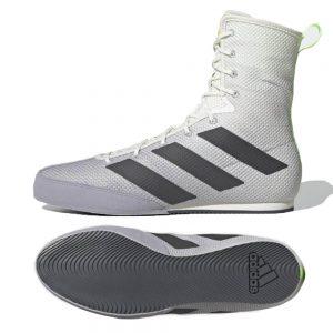 Adidas Box Hog 3 Boxing Boots – White/Grey