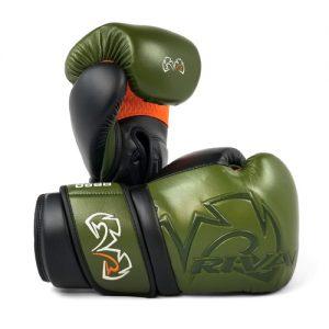 Rival RB80V Impulse Sparring Gloves – Khaki Green/Orange