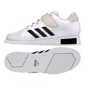 adidas Power Perfect II Weightlifting Shoe – White/Black