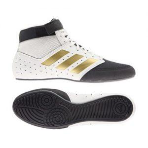 Adidas Mat Hog 2.0 Boxing/Wrestling Boot – Black/White/Gold