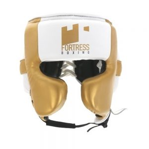 Fortress Boxing Cheek Guard – White/Gold