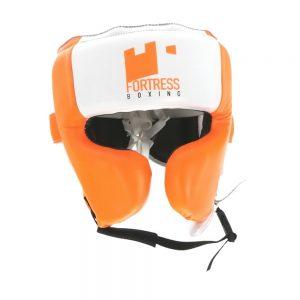 Fortress Boxing Cheek Guard – White/Orange