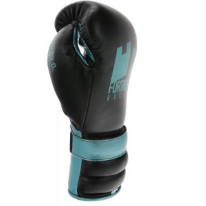 Fortress Boxing SS2.0 Lace Training/Sparring Gloves – Black/Turquoise