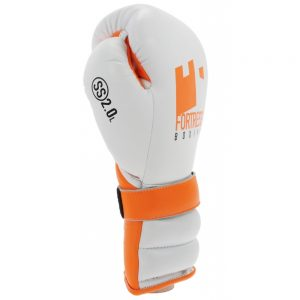 Fortress Boxing SS2.0 Lace Training/Sparring Gloves – White/Orange