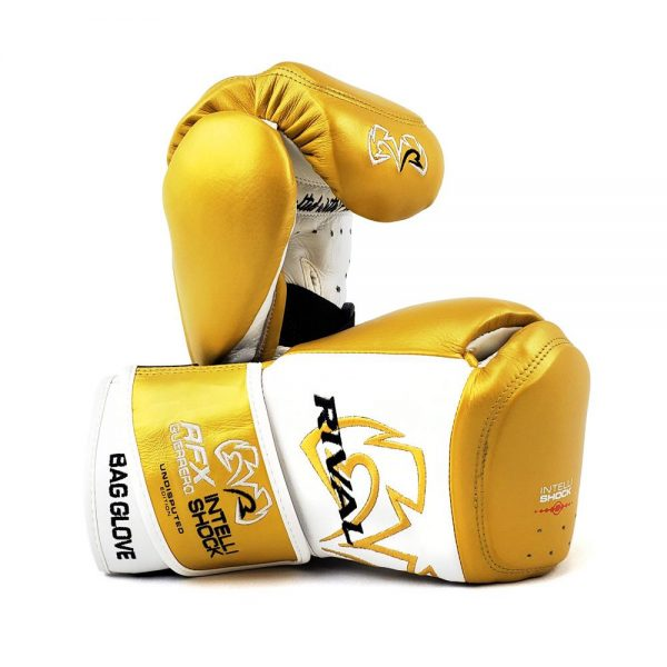 Rival RFX-Guerrero Intelli-Shock Bag Gloves – Undisputed Edition White/Gold
