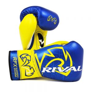 Rival RFX-Guerrero Lace Up Sparring Gloves – P4P Edition Blue/Yellow