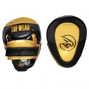 Tuf Wear Victor Gel Curved Hook and Jab Pad – Black/Gold
