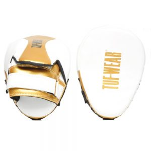 Tuf Wear Victor Curved Hook and Jab Pad – White/Gold