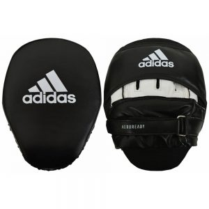 Adidas Curved Aero-Ready Training Focus Mitts – Black/White