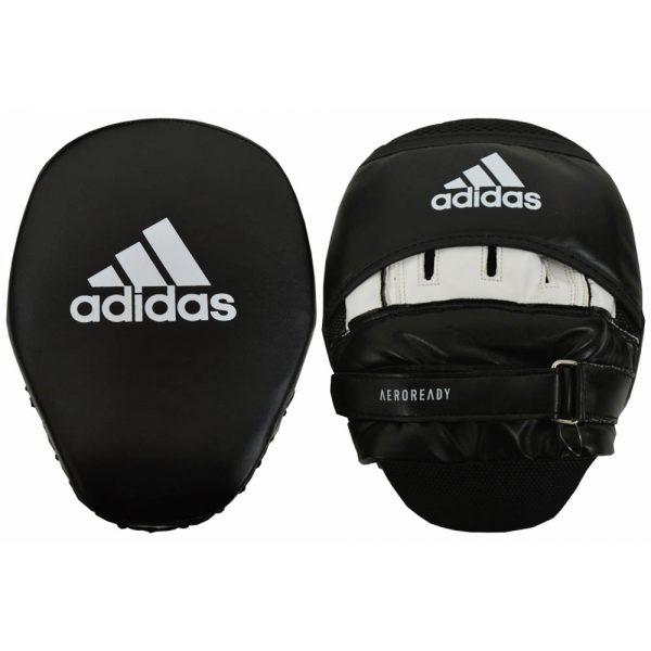 Adidas Curved Aero-Ready Training Focus Mitts – Black/White