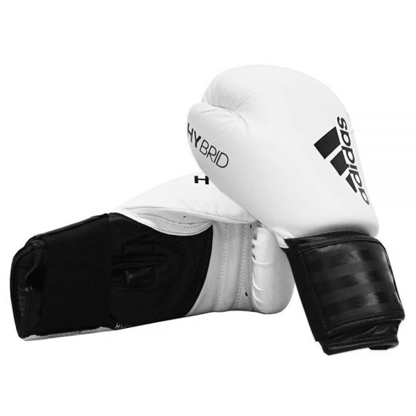 adidas Hybrid 100 Boxing Glove + Adidas 2.5m Wrap – White/Black