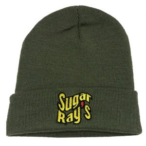 Sugar Ray's Fold Over Boxing Wooly Hat/Beanie – Khaki
