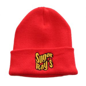 Sugar Ray's Fold Over Boxing Wooly Hat/Beanie – Red