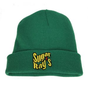 Sugar Ray's Fold Over Boxing Wooly Hat/Beanie – Green