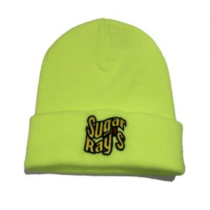 Sugar Ray's Fold Over Boxing Wooly Hat/Beanie – Luminous Yellow