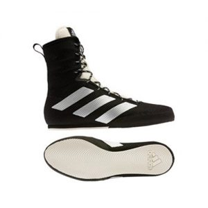 Adidas Box Hog 3 Boxing Boots – Black/Silver/White