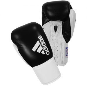 Adidas Hybrid 400 BBBC Approved Lace Boxing Gloves – Black/White