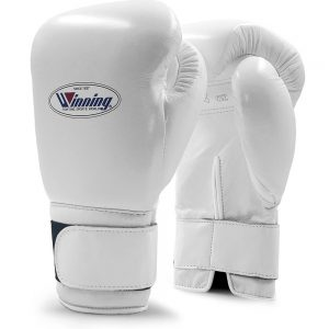 Winning MS Training Hook&Loop Boxing Gloves – White