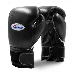 Winning MS Training Hook&Loop Boxing Gloves – Black