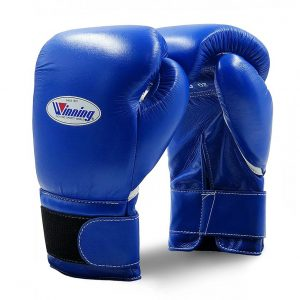 Winning MS Training Hook&Loop Boxing Gloves – Blue