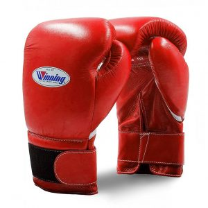 Winning MS Training Hook&Loop Boxing Gloves – Red