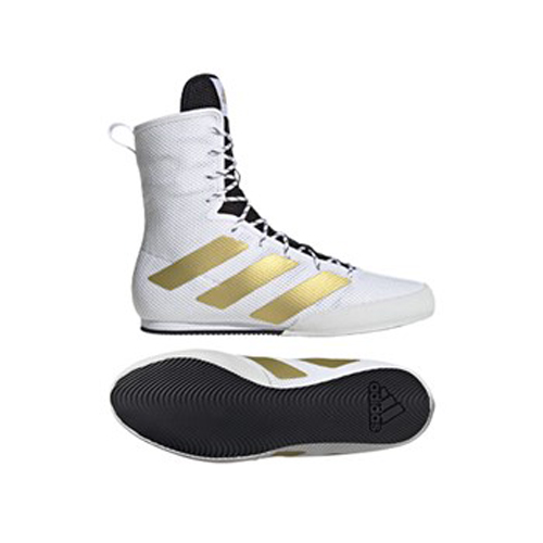 Adidas Box Hog 3 Boxing Boots – White/Gold/Black