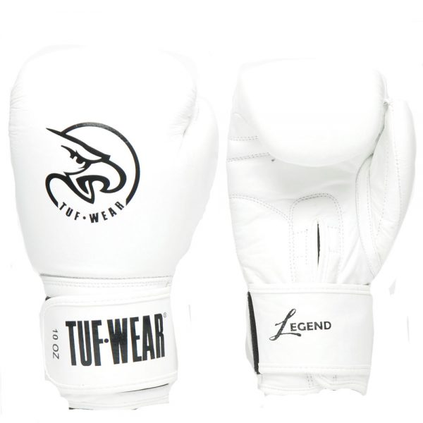 Tuf-Wear Legend Leather Sparring Glove – White