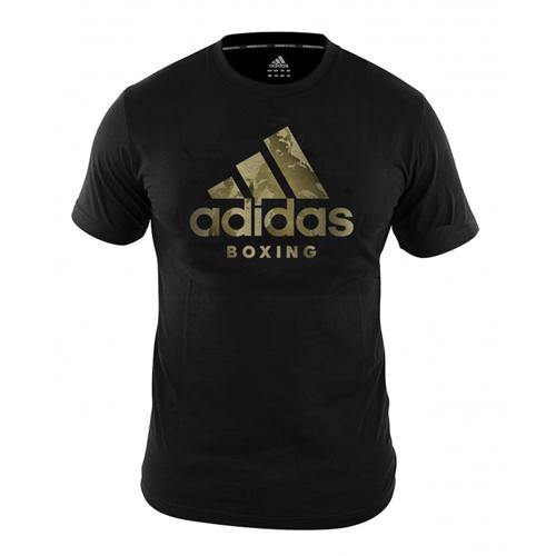 Adidas Boxing T-Shirt Shadow Logo – Black