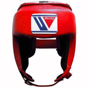 Winning FG-2300 Open Face Headguard – Red