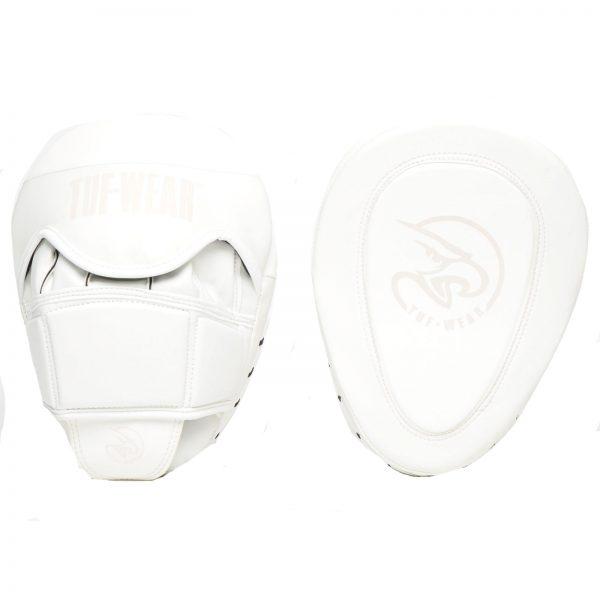 Tuf-Wear Atom Curved Gel Hook and Jab Pad – Matte White