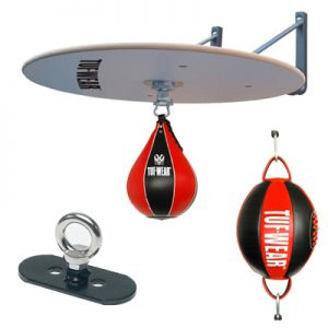 Tuf-Wear Floor To Ceiling & Speedball Set – Red/Black