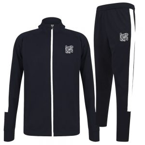 Sugar Ray's Adult Slim Fit Knitted Tracksuit – Navy/White