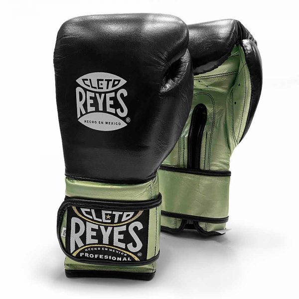 Cleto Reyes Limited Edition Velcro Sparring Gloves – Black/Green