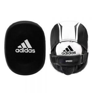 Adidas Leather Pro Speed 550 Focus Mitts – Black/White.