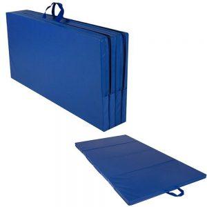 Cannons UK Foldable Gymnastics Mat (Carry Handles) Blue – 8ft x 4ft x 50mm
