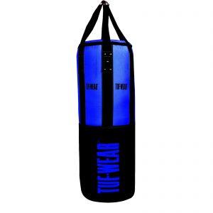 Tuf-Wear 3.5FT 16inch Diameter Punchbag Nylon / Leather 40KG – Black/Blue