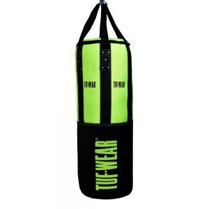 Tuf-Wear 3.5FT 16inch Diameter Punchbag Nylon / Leather 40KG – Black/Lime